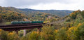 Free Electric Locomotives On The Bridge In Mountains Royalty Free Stock Image - 23957366