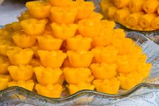 Thai Sweets At A Buddhist Ceremony Royalty Free Stock Photography