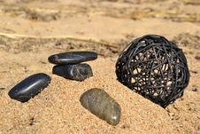 Free Stones By The Sea Royalty Free Stock Images - 23950309