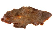 Free A Piece Of Dried Salty Beef Jerky Royalty Free Stock Images - 23951529
