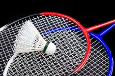 Free A Racket And Shuttlecock Royalty Free Stock Images - 23951969