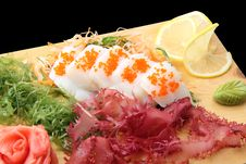 Free Sashimi Hotate On A Board Royalty Free Stock Photos - 23952748