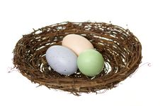 Free Three Nest Eggs Royalty Free Stock Photo - 23953335