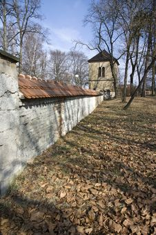 Fortification Wall In Rychnov Royalty Free Stock Image