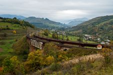 Free Railway Bridge In The Mountains Stock Images - 23957294