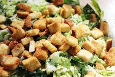 Free Croutons On A Salad Stock Images - 23957614