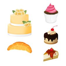Free Bakery Set Royalty Free Stock Image - 23959026