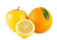Free Orange, Apple And Half A Lemon Royalty Free Stock Image - 23959146