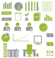 Free Office Icons Stock Photos - 23964723