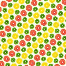 Free Pattern From A Kiwi, A Lemon And Grapefruit Stock Images - 23964724