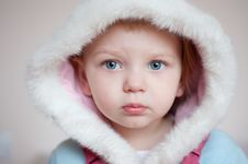 Free Baby With Hood. Closeup Royalty Free Stock Images - 23966269