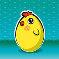 Free Funny Easter Chick, But Is Also Yellow Egg Royalty Free Stock Photo - 23973395