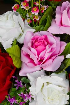 Free Artificial Pink Roses. Stock Photo - 23972920