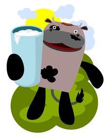 Free Cow And Milk Stock Photos - 23973413