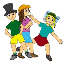 Kids With Hats Stock Image