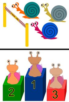 Snail Race Stock Image