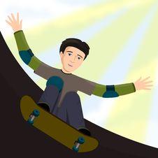 Free Skateboard Kid Stock Images - 23974124
