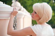 Portrait Of A Beautiful Woman S Blonde. Stock Photography