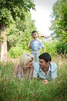 Free Portrait Of Happy Family. Stock Photography - 23974602