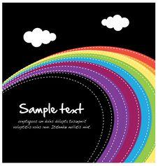 Free Rainbow Layout Royalty Free Stock Photos - 23975128