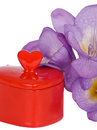 Free Chest Heart And Purple Freesia Stock Photography - 23983932