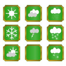 Free Weather Buttons Royalty Free Stock Photo - 23981925