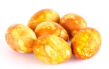 Free Half Dozen Of Golden Marbled Easter Eggs Stock Images - 23983224