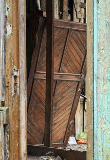 Free Old Broken House Entrance Detail Stock Photography - 23983882