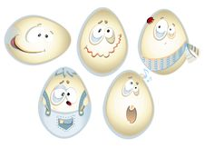 Free Funny Eggs Stock Photography - 23984772