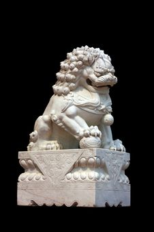 Free Lion Statue Stock Images - 23986874