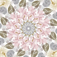 Abstract Floral Pattern In Vector Stock Images