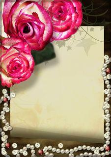 Free Grunge Card With Rose Royalty Free Stock Image - 23987786