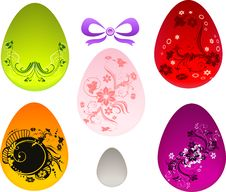 Free Floral Easter Set Royalty Free Stock Photos - 23987888