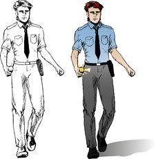 Cartoon Policeman Royalty Free Stock Images
