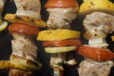 Free Raw Shashlik On A Skewer Stock Photos - 23988373
