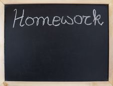 Free Blank Chalkboard Royalty Free Stock Images - 23988609