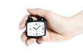 Free Clock With Hand Stock Photography - 23990702