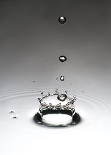 Free The Drop, Which Falls Into The Water Royalty Free Stock Image - 23990096
