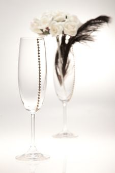 Free Bouquets And Glasses On A White Background Royalty Free Stock Images - 23990309