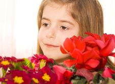 Free CHILD WITH FLOWERS Stock Images - 23992064