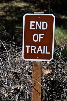 Free End Of Trail Sign Stock Photography - 23993532