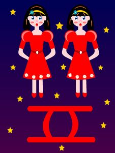 Free Gemini Zodiac Star Sign Royalty Free Stock Photo - 23995545