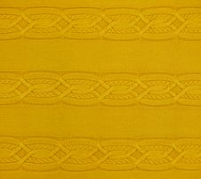 Free Yellow Knitted Pattern, Texture Royalty Free Stock Photography - 23995677