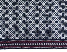 Scandinavian Wool Sweater Pattern, Texture Royalty Free Stock Photos