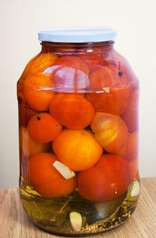 Free Marinated Tomatoes Royalty Free Stock Photography - 23995837