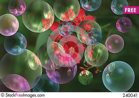 Colorful bubbles Stock Photo