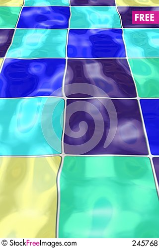 Free Rippled Pool Tiles Royalty Free Stock Photos - 245768