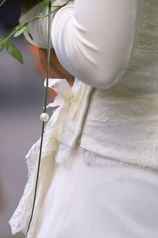 Free Wedding Dress Detail Royalty Free Stock Photography - 241147