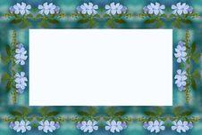 Free Blue Flower Frame Stock Image - 241741