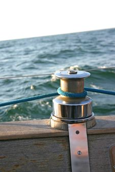 Free Capstan On Wooden Deck Stock Photo - 242320